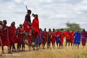 Maasai style jumping